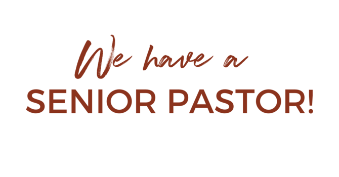 We have a new Senior Pastor! image