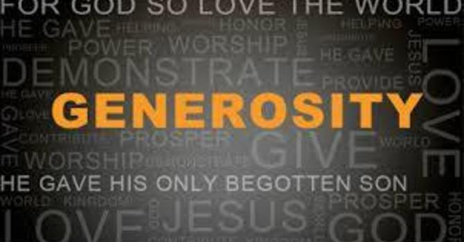 Spiritual Practice - Generosity image