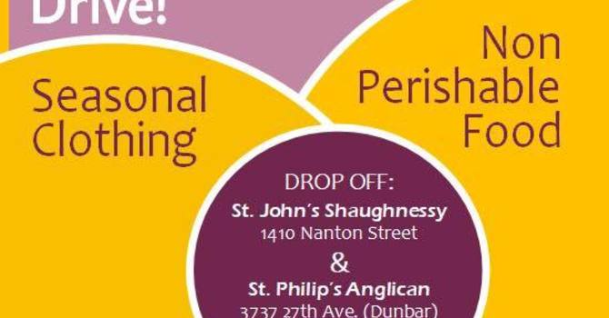Westside Anglicans Food and Clothing Drive