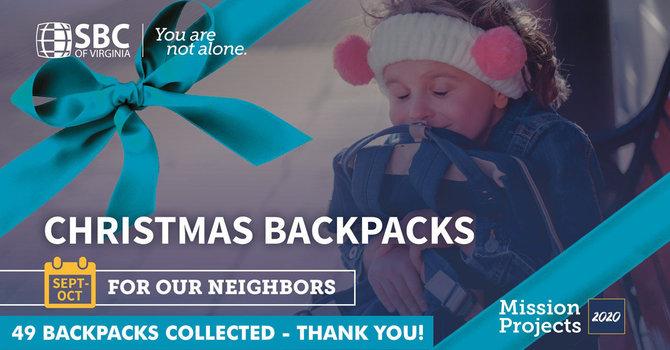 Christmas Backpack Thank You! image