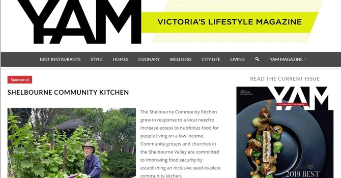 Shelbourne Community Kitchen Featured in YAM Magazine image