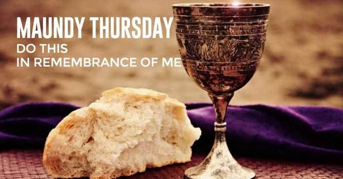 Maundy Thursday Leaflet and Sermon image