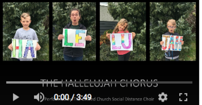 The Hallelujah Chorus Social Distancing Choir! image