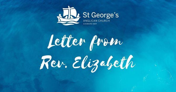 Letter from Rev. Elizabeth  image