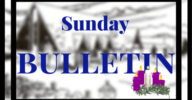 Bulletin-Christmas Eve & Christmas Day Services image