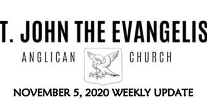 Weekly Update - November 6, 2020