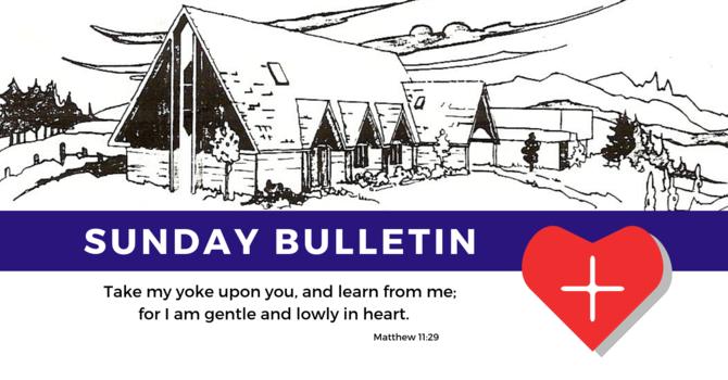 Bulletin - Sunday, September 1, 2019 image