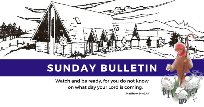 Bulletin - Sunday, August 11, 2019 image