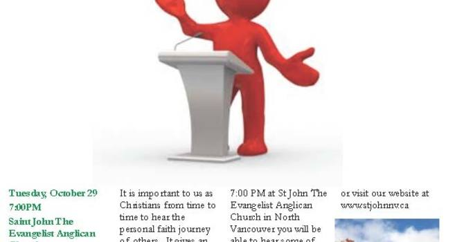 Night of Testimonies at St. John's North Vancouver image