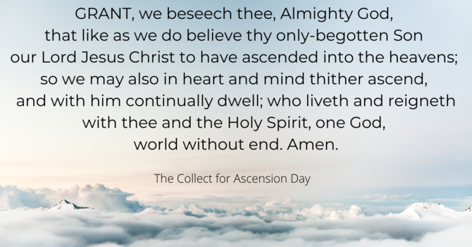 The Collect for Ascension Day image