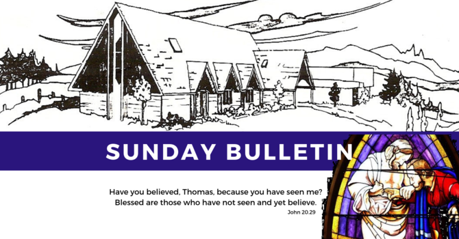 Bulletin - Sunday, April 28, 2019 image