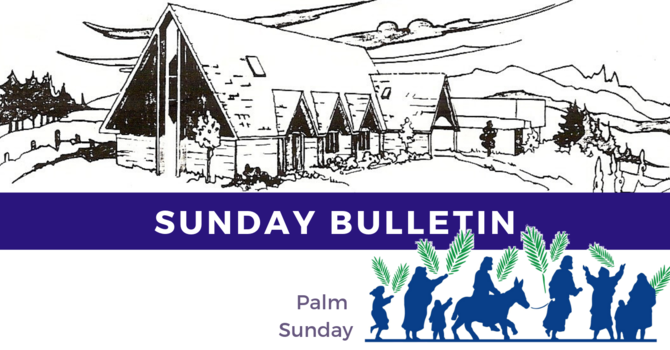 Bulletin - Sunday, April 14, 2019 image