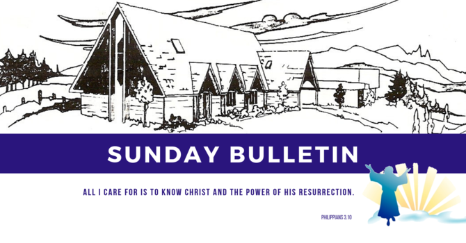 Bulletin - Sunday, April 7, 2019 image