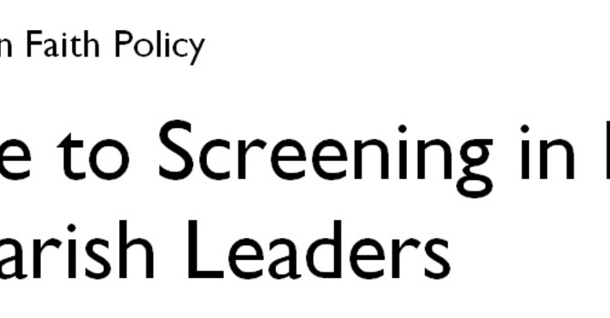 New Guide to the Screening Policy for Parish Leaders image