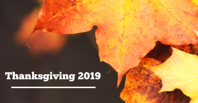 A Letter to The Community: Thanksgiving 2019 image