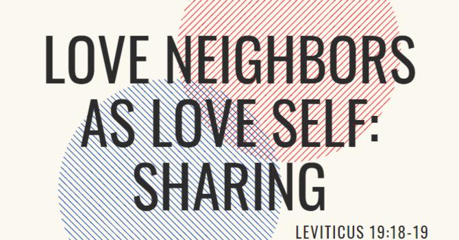 Sharing Service - Love Neighbors as Love Self
