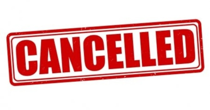 CANCELLATION OF SERVICE SUNDAY, MARCH 15TH image