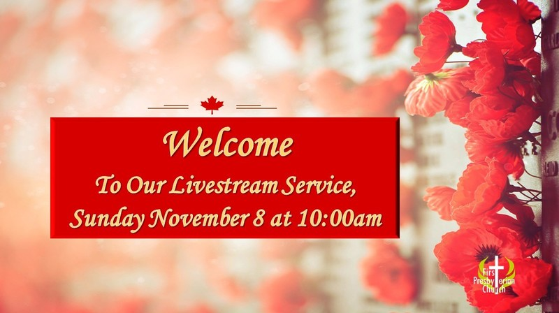 Sunday November 8 Livestream Service