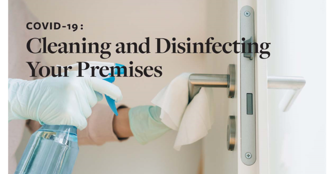 COVID-19: Cleaning and Disinfecting Your Premises image