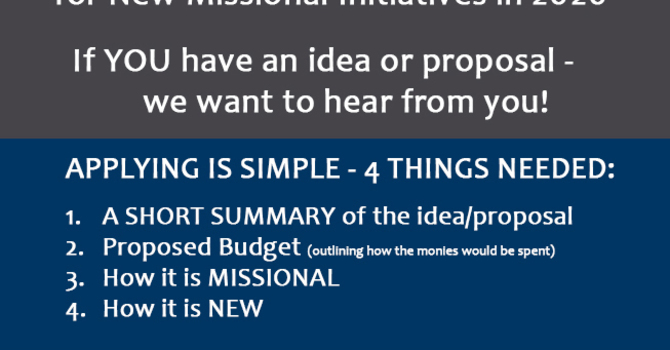 New Missional Initiatives 2020 image