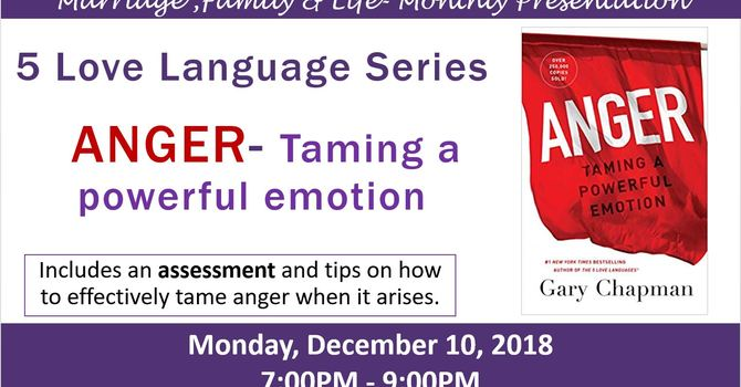 MFL  Presentation:  Anger - How to Tame