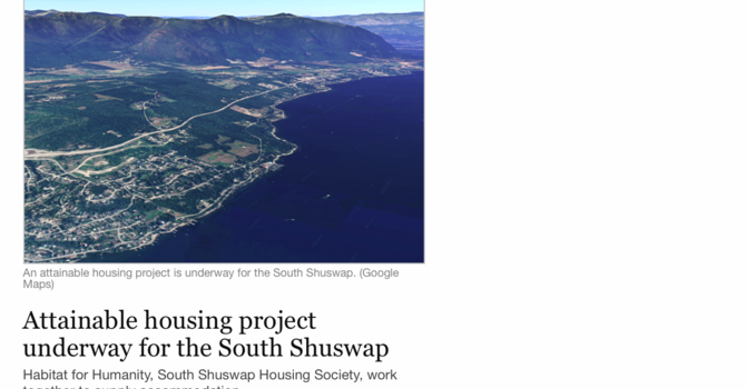 New affordable housing for South Shuswap... image