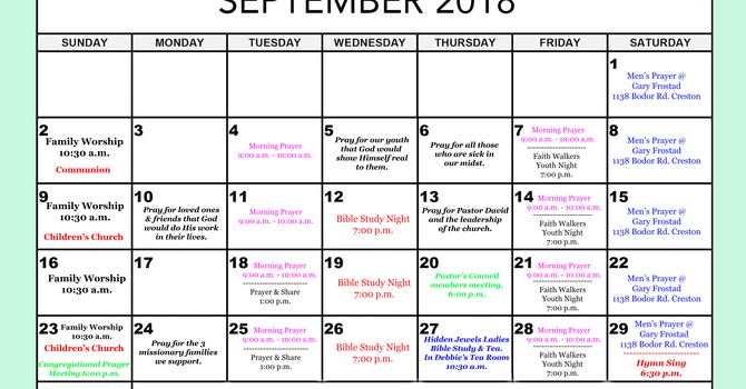 Our Bulletin For The Month Of September. image