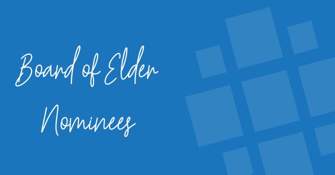Board of Elder Nominees 2018 image