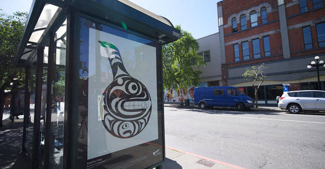 Downtown bus shelters feature local art image