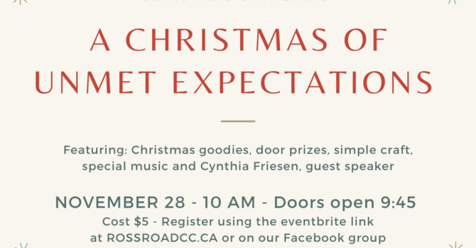 Women's Ministry Christmas Gathering - POSTPONED