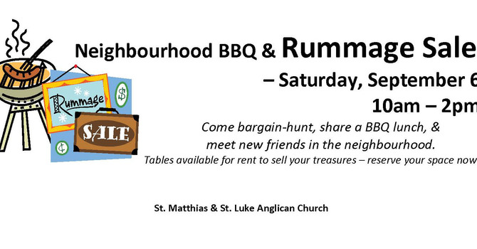 St. Matthias - St. Luke BBQ and Bargain Sale image