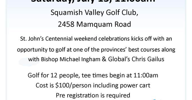 Golf Kicks off St. John's, Squamish Centennial Weekend image
