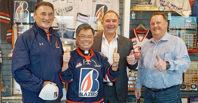 Bishop Visits Blazers image