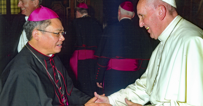Bishop Joseph Meets Pope Francis image