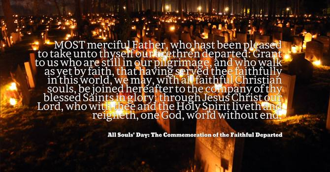 An All Souls' Day message from Bishop Michael image