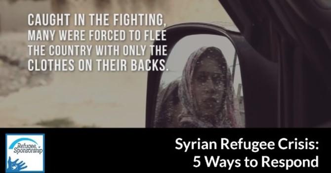 C&MA Compassionate Response - Crisis in Syria image