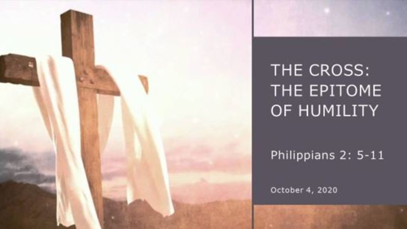 The Cross an Expression of Humilty