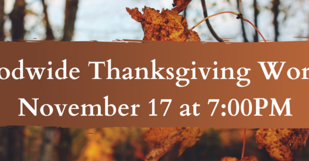 Synodwide Thanksgiving Worship