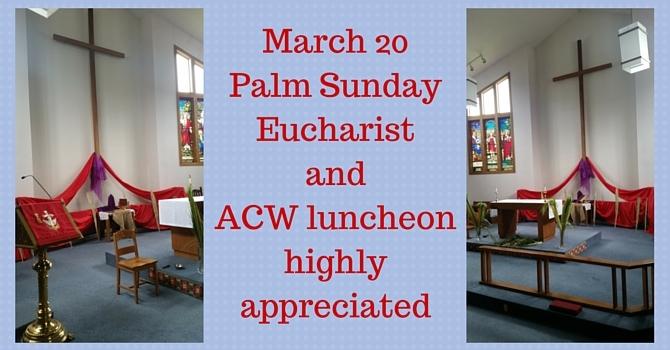 Palm Sunday ACW luncheon image