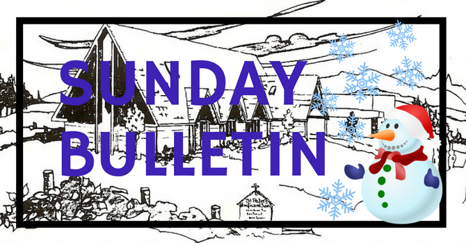 Bulletin - January 28, 2018 image
