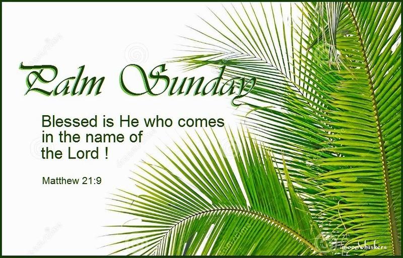 Palm Sunday Home Prayer Service