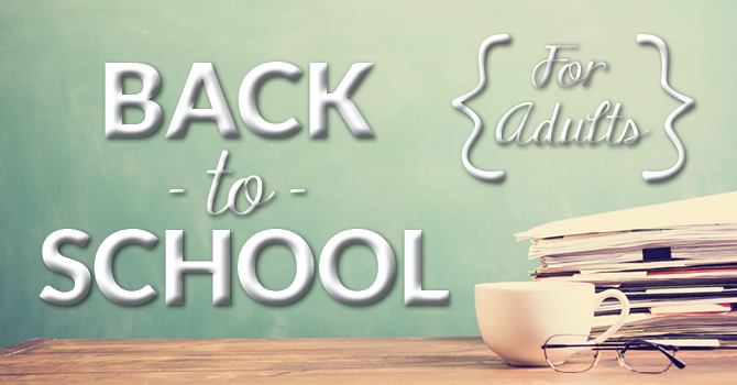Back to School for Adults! image