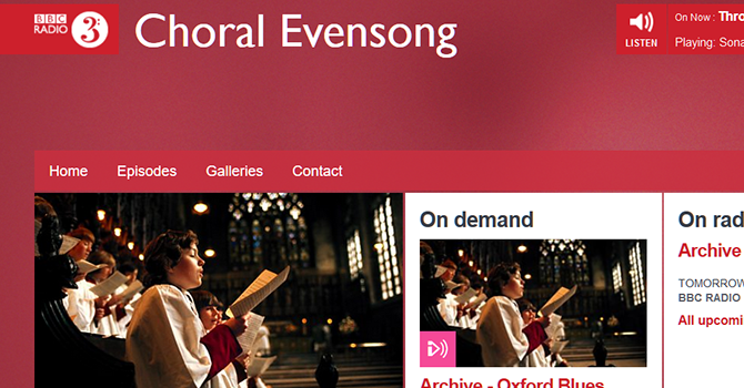 Do you miss CHORAL EVENSONG? image