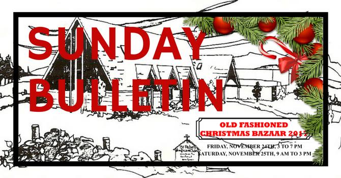 Bulletin - Sunday, November 26, 2017 image