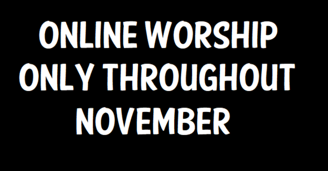 In-Person Worship Services Suspended image
