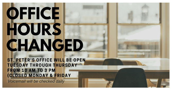 Office Hours Changed image