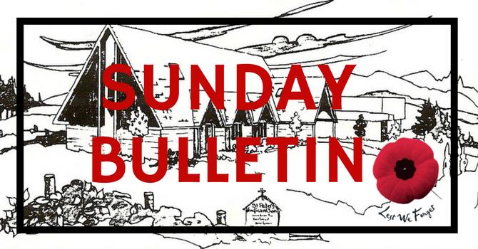 Bulletin - Sunday, November 12, 2017 image