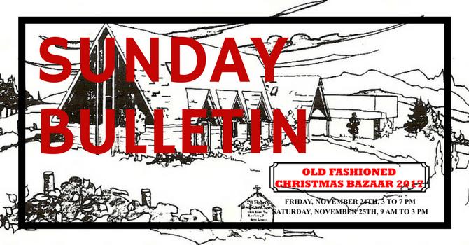 Sunday Bulletin - November 19, 2017 image