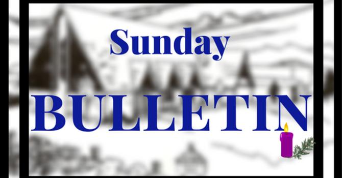 Bulletin - Sunday, Dec. 3, 2017  image