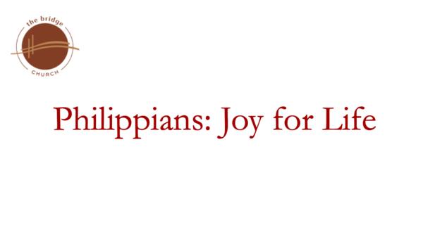 Philippians: Joy for Life